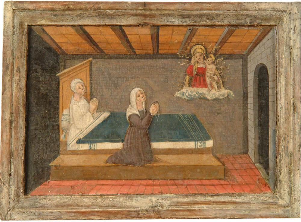 Lonigo, Dying woman attended by a priest and a female relative preview image